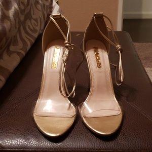 MISSLOLA GOLD strappy heel